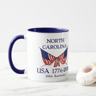USA 250th Anniversary North Carolina NC Mug