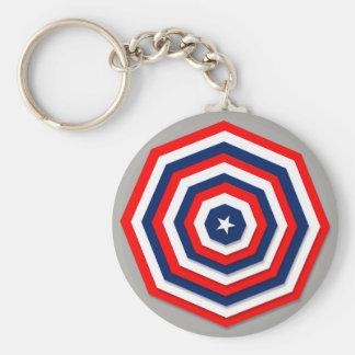 """USA 2.25"""" Basic Button Keychain"""