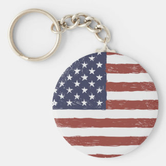 "USA 2.25"" Basic Button Keychain"