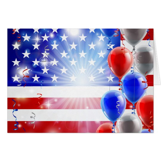 USA 4th july balloons background Card