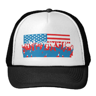 USA 4TH July Party Mesh Hat