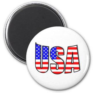 USA 6 CM ROUND MAGNET