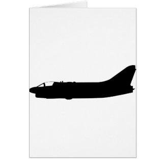 USA A7 Corsair Silhouette Greeting Card