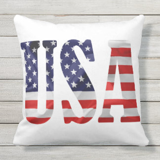 USA Abbreviation Cushion