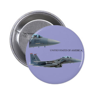 USA AIRCRAFT 6 CM ROUND BADGE