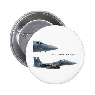USA AIRCRAFT 6 CM ROUND BADGE
