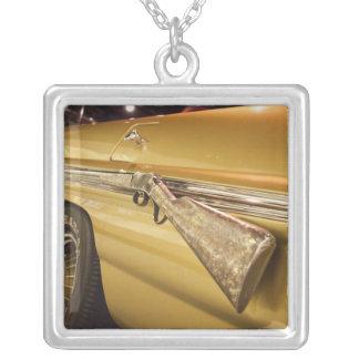 USA, Alabama, Tuscumbia. Alabama Music Hall of Silver Plated Necklace