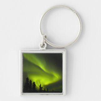 USA, Alaska, Chena Hot Springs. Aurora Borealis 2 Key Ring