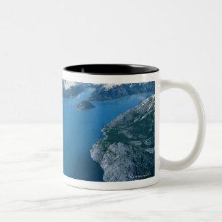 USA,Alaska,Glacier Bay National Park,aerial view Two-Tone Coffee Mug