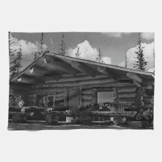 USA Alaska Modern alaskan log cabin 1970 Towel