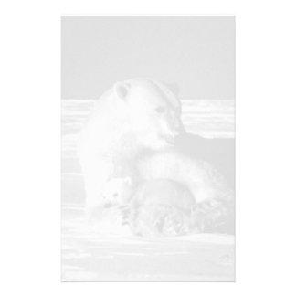 USA Alaska mother polar bear 1970 Custom Stationery