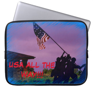 USA ALL THE WAY 15 in lap top cover