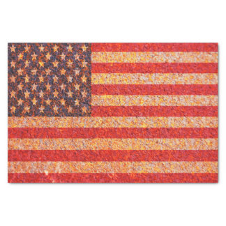 USA America Flag Rusty Old Texture Tissue Paper