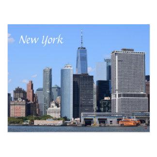 USA America New York City Scene View Postcard