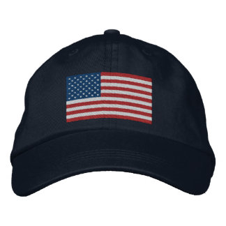 USA America Patriotic Embroidered Hats