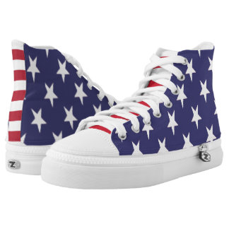 USA America Stars And Stripes Patriotic Printed Shoes