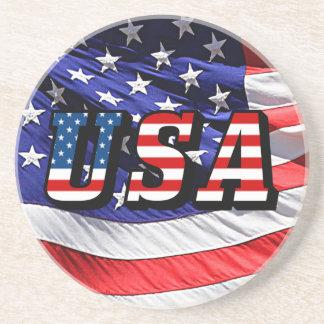 USA - American Flag Beverage Coaster