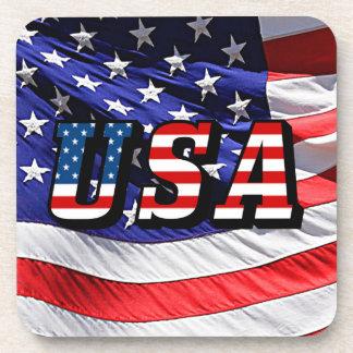 USA - American Flag Beverage Coasters