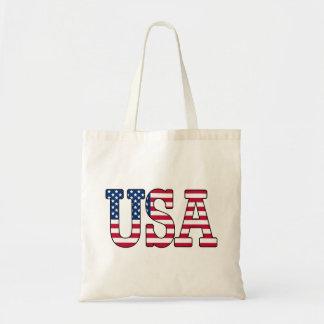 USA American Flag Budget Tote Budget Tote Bag