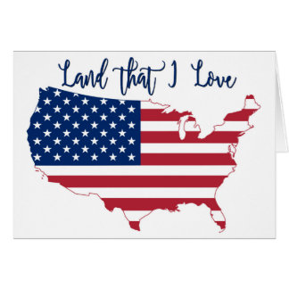 USA American Flag Card