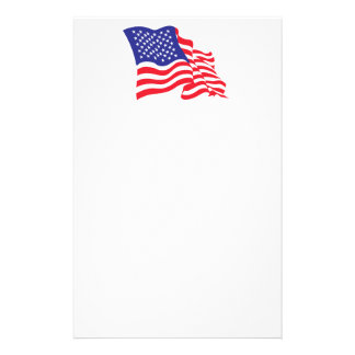 USA/American Flag Custom Stationery