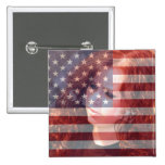 USA American Flag Customisable With Photo Badge