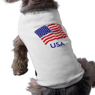 USA American Flag Dog Tee