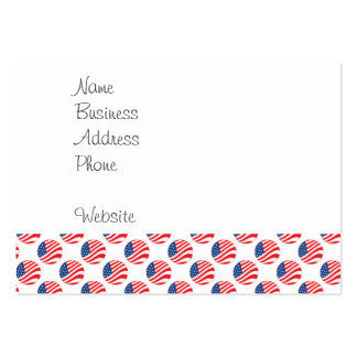 USA American Flag Fourth of July Patriotic Business Cards
