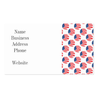 USA American Flag Fourth of July Patriotic Pack Of Standard Business Cards