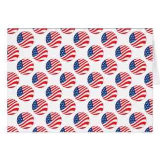 USA American Flag Fourth of July Patriotic Greeting Card