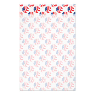 USA American Flag Fourth of July Patriotic Personalised Stationery