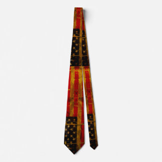 USA American Flag Grunge Distressed Neck Tie
