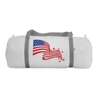 usa american flag gym duffel bag