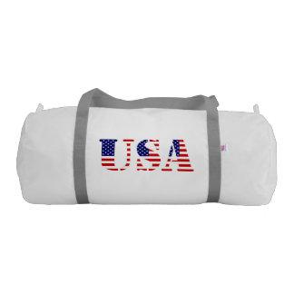 Usa - american flag gym duffel bag