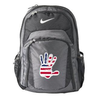 usa american flag hand backpack