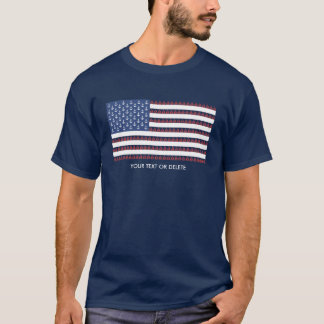 USA American Flag Nautical Anchor Sailboat Custom T-Shirt