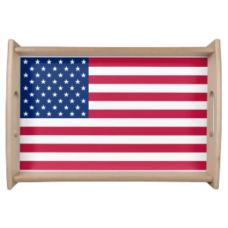 USA American Flag Patriotic 4th July Serving Tray