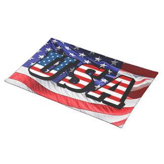USA - American Flag Place Mat