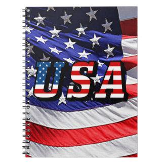 USA - American Flag Spiral Note Books