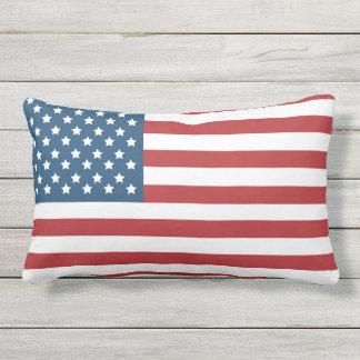 USA American Flag Stars and Stripes Lumbar Cushion