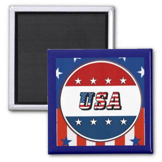 USA - American Flag Stars Circle #2 Refrig Magnet