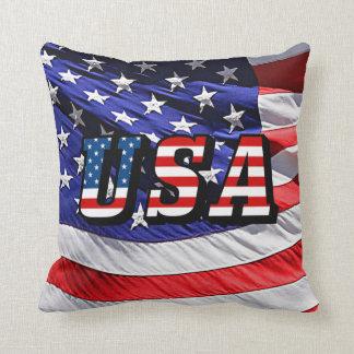 USA - American Flag Throw Pillows