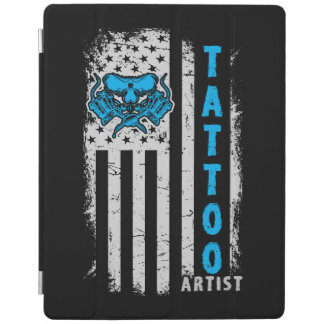 USA American Flag with Tattoo Artist iPad Cover