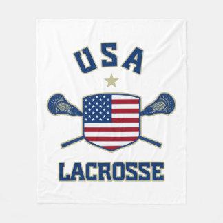 USA American Lacrosse Blanket Fleece Blanket