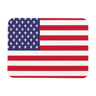 USA American Patriotic Stars And Stripes Rectangular Photo Magnet