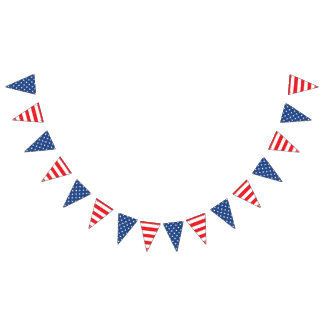 USA American Stars and Stripes. Bunting