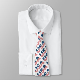 USA American Stars and Stripes Tie