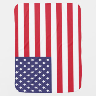 USA American United States Patriotic Flag Baby Blanket