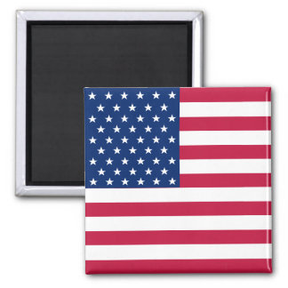 USA American US Flag 4th July Square Fridge Magnet