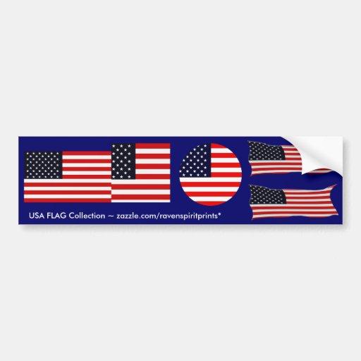 USA AMERICAN US FLAG Multi-Stickers Bumper Sticker
